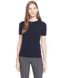 Theory Tolleree Short Sleeve Cashmere Pullover