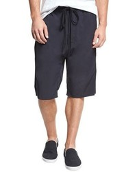 Vince Athletic Drop Rise Stretch Nylon Shorts