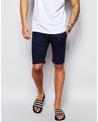 Asos Brand Chino Shorts In Skinny Fit In Mid Length