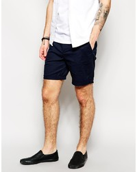 Asos Brand Slim Chino Shorts In Mid Length