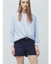 Mango Outlet Cotton Blend Shorts
