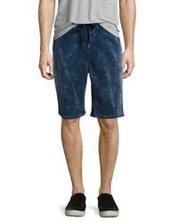 True Religion Decayed Terry Sweat Shorts Blue