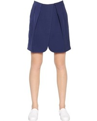 Emporio Armani Pleated Techno Twill Shorts