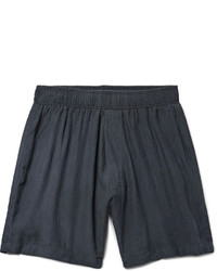 The Elder Statesman Hammered Silk Drawstring Shorts