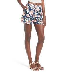 High waist scallop hem shorts medium 3715210
