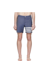 Thom Browne Navy 4 Bar Tech Swim Shorts
