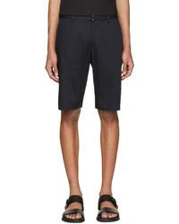 Maison Margiela Navy Cotton Linen Shorts