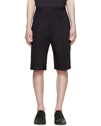 Lanvin Navy Cotton Worker Shorts