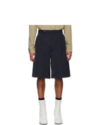Random Identities Navy Oversize Tailored Shorts