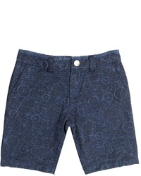 Paul Smith Stretch Cotton Denim Jacquard Shorts