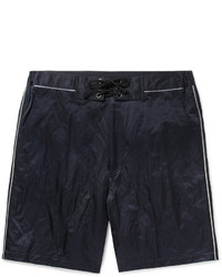 Lanvin Piped Cotton Blend Satin Shorts