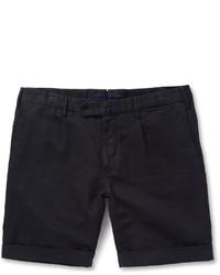 Incotex Slim Fit Linen And Cotton Blend Shorts