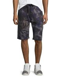 True Religion Spiral Tie Dye Sweat Shorts Indigo