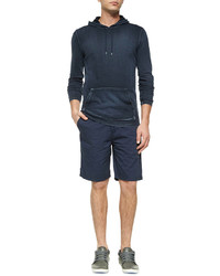John Varvatos Star Usa Woven Cotton Shorts Blue