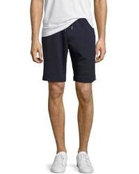 Moncler Tricolor Trim Sweat Shorts Navy