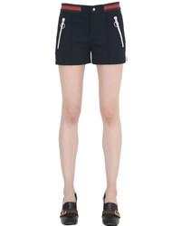 Gucci Web Waistband Piqu Jersey Shorts