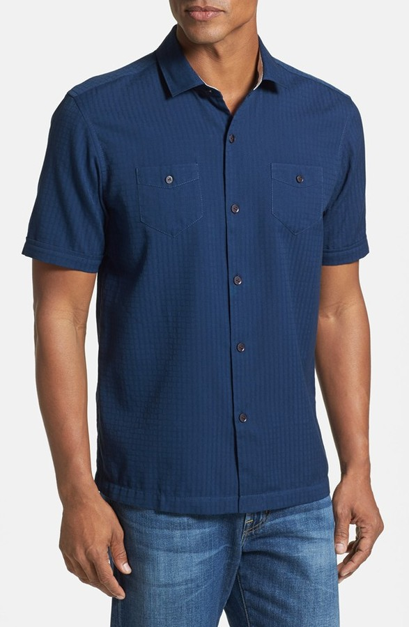 Tommy bahama soundwave island modern fit short sleeve for Where to buy tommy bahama shirts