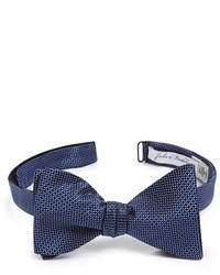 Navy Silk Bow-tie