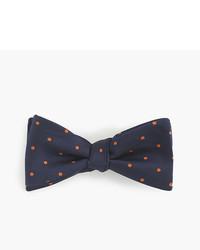 J.Crew Silk Bow Tie In Orange Dot
