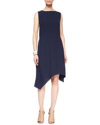 Eileen Fisher Sleeveless Silk Asymmetric Dress