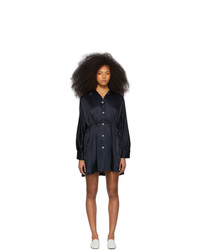Mansur Gavriel Navy Silk Coat