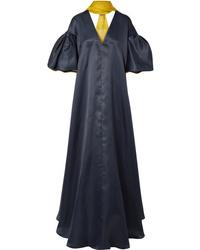 988fb386ce2c Sandra Bullock wearing Navy Silk Evening Dress