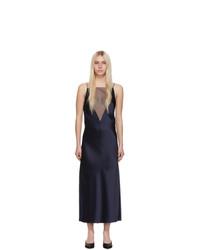 Marina Moscone Navy Gia Slip Dress