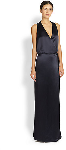 Tibi Satin Wrap Gown Where To Buy How To Wear