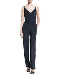 Rag & Bone Rosa Sleeveless Silk Jumpsuit Blue