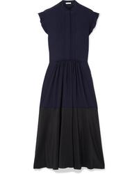 Chloé Med Two Tone Silk Tte Midi Dress