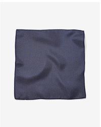 Express Bold Border Dot Silk Pocket Square