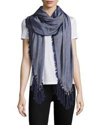 Chloé Chloe Pompon Fringe Wool Silk Cashmere Scarf