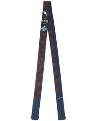 Lanvin Thin Embellished Pattern Scarf