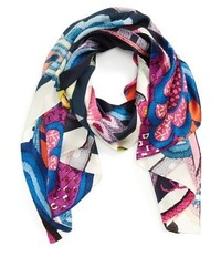 Ted Baker London Folk Foliage Silk Scarf