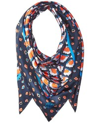 Tory Burch Mixed Fiori Silk Square Scarf Scarves