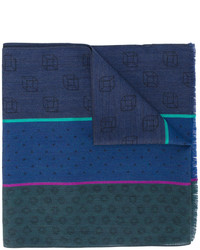 Paul Smith Multi Patterned Scarf