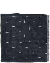 Neil Barrett Lightning Bolt Scarf