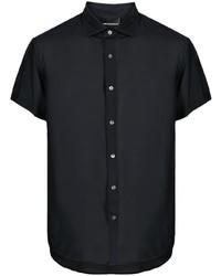 Emporio Armani Silk Modal Blend Short Sleeve Shirt