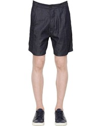 Emporio Armani Cotton Linen Silk Blend Shorts