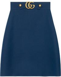 Gucci Crpe Wool Silk Skirt