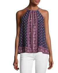 Bradie sleeveless halter silk top medium 3772292