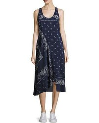 Theory Apalania Bandana Tank Dress Blue