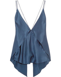 Michl Lo Sordo Paneled Silk Satin Camisole