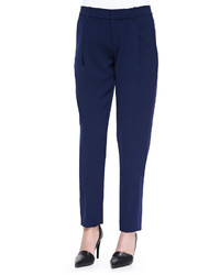 Vince Satin Striped Tuxedo Trousers Blue Marine