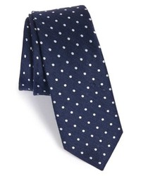 The Tie Bar Dot Silk Linen Tie