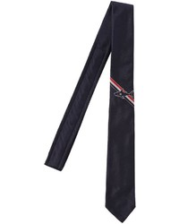 Thom Browne Silk Jacquard Tie W Shark Detail