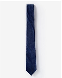 Express Textured Solid Narrow Silk Tie