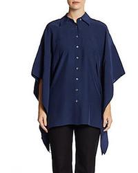 Kimono sleeve silk tunic medium 79349