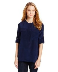BCBGMAXAZRIA Luelle Long Sleeve Tunic Top