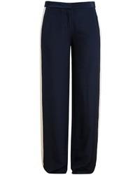 Diane von Furstenberg Lightweight Silk Tuxedo Trousers
